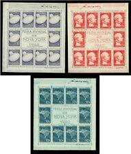 BRAZIL 1940  NEW YORK Expo FAIR set of BLOCKS S/S  Scott# 496a-498a MINT