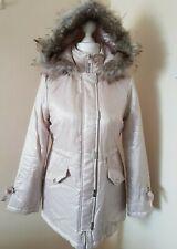 Lipsy Pink Jacket Premium Bow Detail Parka Hooded Coat  UK 10 RRP £120