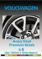 VOLKSWAGEN Alloy Wheel Vinyl Stickers - Graphics X 6