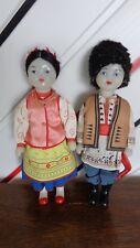 Vintage couple costumes dolls Ukraine/Soviet Union/USSR, 1970s
