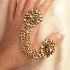 Statement Kundan Bridal Ring Gold plated Kundan Wedding Jewelry Bollywood Design