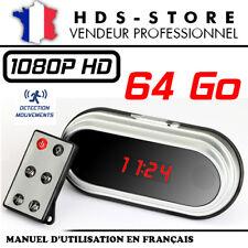 RÉVEIL CAMERA ESPION RVLHD2 FULL HD 1080P + MICRO SD 64 GO DÉTECTION VIDÉO HDMI