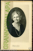 Antique Matted Photo - Older Nice Looking Older Lady - Ontario, Oregon