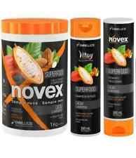 NOVEX Superfood Cacau E Amêndoas Kit Shampoo Conditioner 300 ml + Máscara 1kg