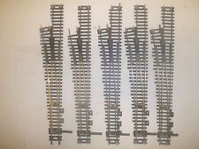 5 ATLAS BRASS #6 SWITCH TURNOUTS HO SCALE  (LOT 459)