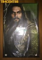 Ready! Hot Toys MMS447 Justice League Aquaman Jason Momoa 1/6 Figure New