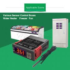 220V Digitaler STC 1000 Temperaturregler Thermostatregler + Sensor Sonde New