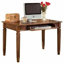 Hamlyn Traditional Home Office Desk with Pull Out Tray, Medium Brown Small Desk
