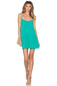 Lovers + Friends ♡ Beau Dress ♡in Turquoise ♡M NWT $164 ♡Open Back♡Flirty Ruffle