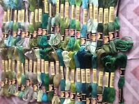 Mixed Shades of Green Skeins of Embroidery Thread 50 off