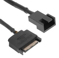Sleeved SATA 15Pin to 4Pin Cooling Fan Power Adapter Extension Cable Wire Cord