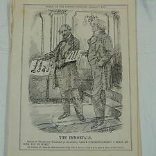 "7x10 ""PUNCH CARTOON 1912 gli immortali Dickens & Thackeray ANNIVERSARIO BALL"