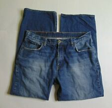 Lucky Brand Men's 34 X 30 Blue Jeans Denim Regular Fit Bootcut Dark Wash Cotton
