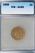 1859 ICG AU50 Indian Head Cent!! #E1289