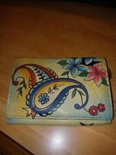 Anushka Wallet - Leather - Hand painted