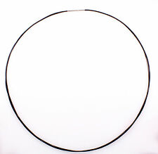 Stainless Steel 7-Strand Black Cable Wire Necklace 18'' bayonet clasp