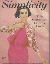 New listing Vintage Simplicity Fashion Magazine - Spring 1958