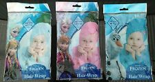 Disney Frozen Girls Elsa Anna Olaf Blue Pink Hair Wraps for Swimming Bathing etc