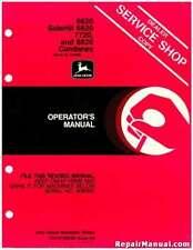 John Deere 6620 SideHill 7720 8820 Combine Operators Manual