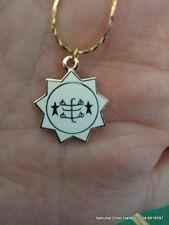 Baha'i Ring star symbol color necklace 9 pointed star from Haifa,Bahai jewelry