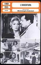 L'AVVENTURA - Vitti,Massari,Antonioni (Fiche Cinéma) 1960