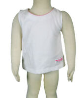 JACADI Girl's Cadrer White Cotton Tank Top w/ Embroidery Size 2 Years NWT $22