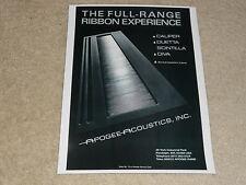 Apogee Acoustics Duetta II Speaker Ad, 1988, 1 page, Frame it!