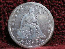1853 SEATED LIBERTY QUARTER -EF CONDITION-FREE SHIPPING