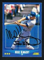 Mike Kingery #178 signed autograph auto 1988 Score Baseball Trading Card