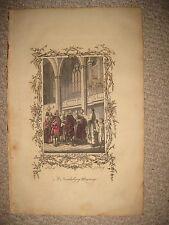 ANTIQUE 1765 NUREMBERG GERMANY MARRIAGE CEREMONY COPPERPLATE PRINT WEDDING RARE