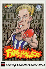 2013 AFL Champions Laserfoil Firepower Caricature FC35 Andrew Swallow (Nth Melb)