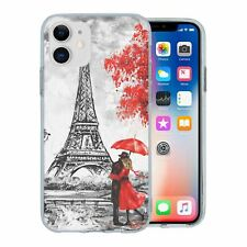 For Apple iPhone 11 Silicone Case Red Paris Nature - S6310
