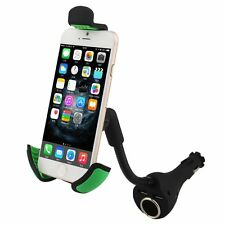 Dual Usb Port Car Cigarette Lighter Charger Cell Phone Mount Holder For Mobile