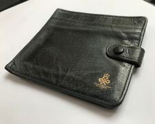 Vintage ICI Pharmaceuticals Mens Gents Blue Grey Calf Leather Wallet 1972 - LL