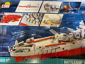 OPEN BOX SEALED PACKS COBI World of Warships 3083 Battleship Yamato 2500 pcs