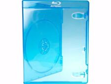Set of 10 Empty, Blue, Blu-ray DVD Replacement Cases/Boxes