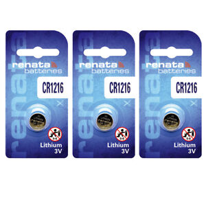 3 x Renata CR1216 Batteries, Lithium Battery 1216   Shipped from Canada