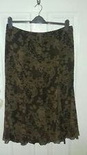 AMARENTO skirt 16 long brown lace effect