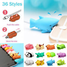 Cute Animal USB Cable Bite Muncher Chomper Protector For Android iPhone XS Max X