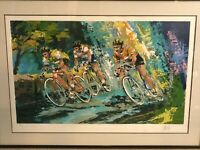 """Wayland Moore """"Bike Ride"""" Limited Edition Serigraph Print, Numbered & Signed"""
