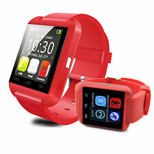 Red Wrist Bluetooth Smart Watch Phone For Android HTC M9 M8 LG G2 G3 V10 V20 ZTE