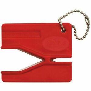Case XX 52451 Red Key Chain Keychain Knife Hook Sharpener Easy Pull