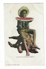 "Black Americana, Ethnic, Postcard, ""A Yard Of Contentment"" E C Kropp. Milwaukee."