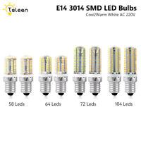 BLANC FROID/BLANC CHAUD E14 6-9W AC 220V BRILLANT AMPOULES DE MAÏS LAMPE À LED