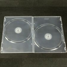 20x CD DVD Disc Slim Double Case Blank Replacement Cover Plastic Clear Home Chic