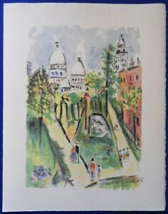 Maurice Utrillo: Sacred Heart - Lithography Original Signed Mourlot 1955