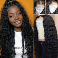 Deep Curly Wave 360 Lace Front Wig 100% Malaysian Remy Human Hair Wigs Baby Hair