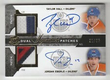 2012/13 THE CUP TAYLOR HALL JORDAN EBERLE DUAL 3 CLR PATCH AUTO AUTOGRAPH 21/35