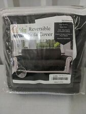 """Easy-Going Quilted Reversible Sofa Cover for Sofa 66"""" Seat - Open Box Dark Brown"""