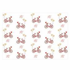 Valentine's Unique High Quality Bicycle/Hearts Design Wrap Red-Size (297x420mm)